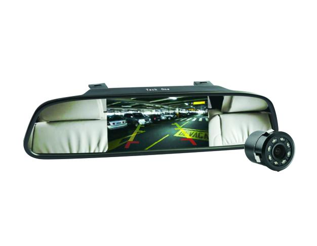 Kit retrovisor com câmera de ré LED visão noturna
