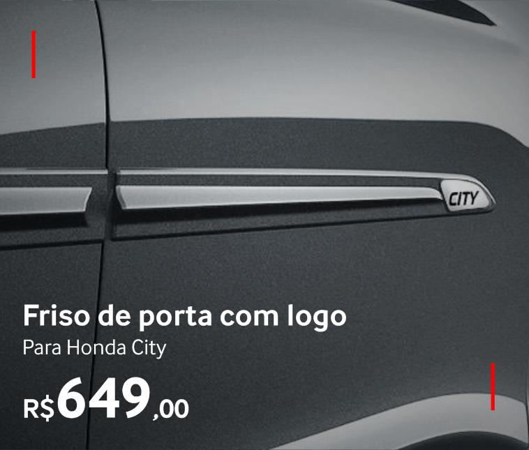 Friso de porta com logo para Honda City