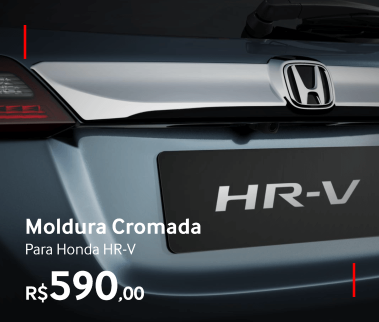 Moldura Cromada para Honda HR-V