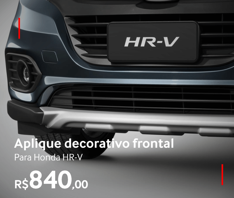 Aplique decorativo frontal para Honda HR-V