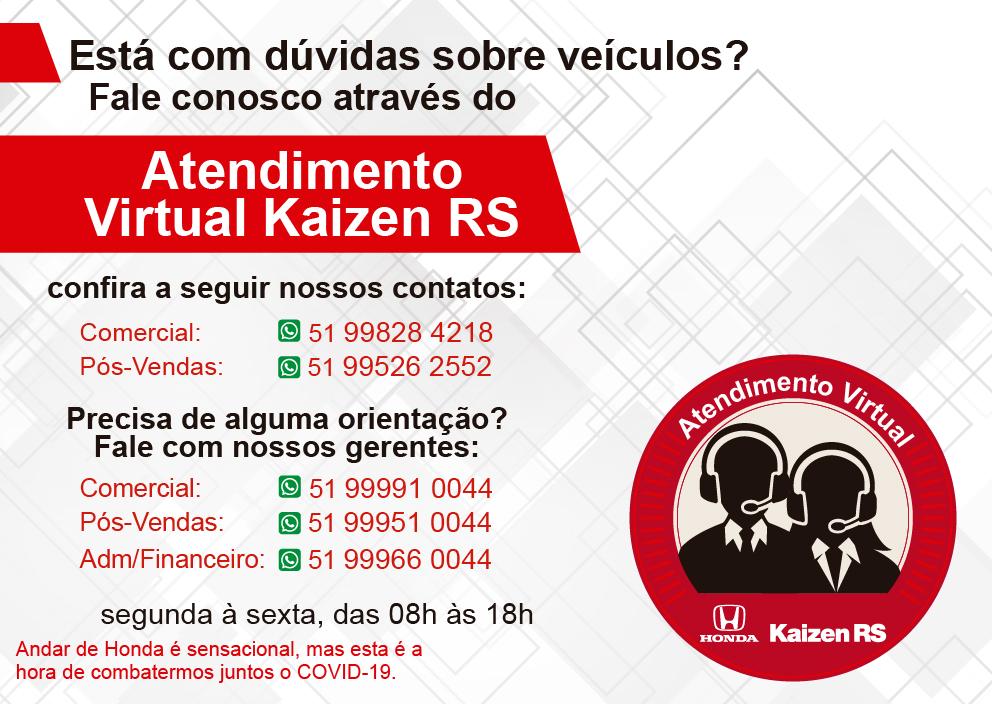 ATENDIMENTO VIRTUAL KAIZEN RS