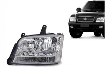 Farol S10 Blazer Pitbull 2001 a 2011 Pisca Cristal LADO ESQUERDO Tech One