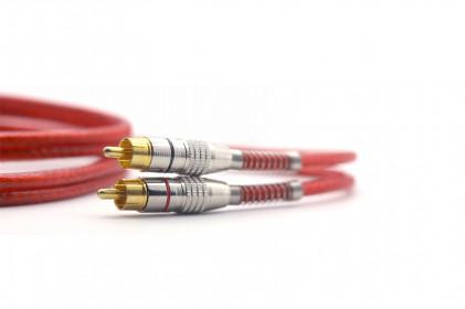 Cabo RCA Prime Plug Metal 5mm Transp Verm 1m Svart