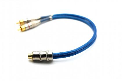 Cabo Y Prime Plug Metal 5mm Azul 1F e 2M 100% Cobre Svart