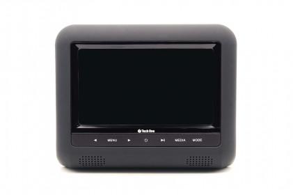 """Encosto de Cabeça Acoplável USB/SD/DVD 7"""" Tech One"""