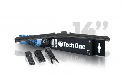 "Palheta Automotiva Soft Smart 3 Encaixes 14"" Tech One"