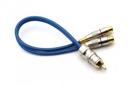 Cabo Y Prime Plug de Metal 5mm Azul 2F 1M Svart