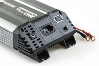 Inversor de Voltagem 1200W 24V - 220V Tech One