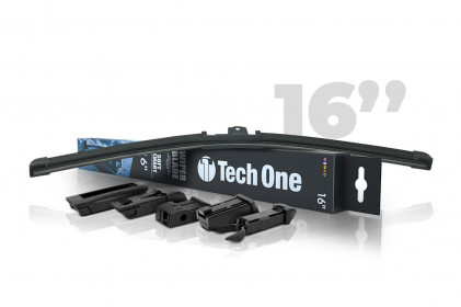 "Palheta Automotiva Soft Smart 5 Encaixes 16"" Tech One"
