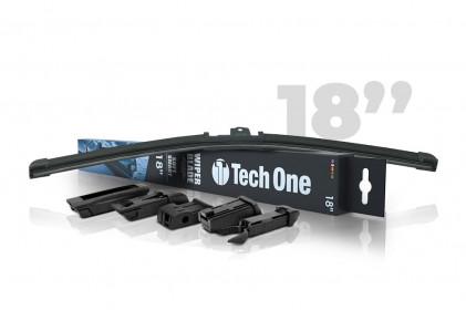 "Palheta Automotiva Soft Smart 5 Encaixes 18"" Tech One"